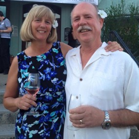 Owners Ruth and Scott at the 25th Anniversary party