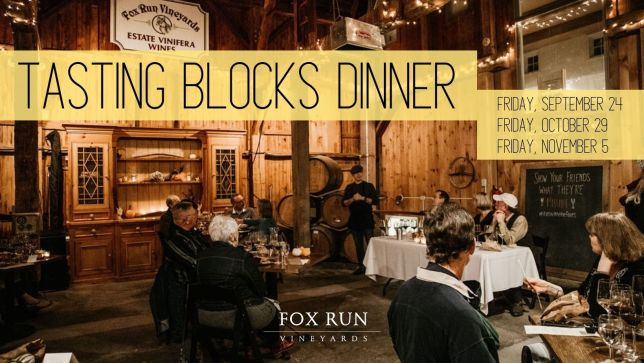 Tasting Blocks Dinner at Fox Run Vineyards