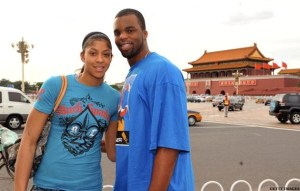 BEIJING - AUGUST 16: Shelden Williams of the Sacramento Kings and Candace Parker #15 of the U.S. Women's Senior National Team visit The Forbidden City during the 2008 Beijing Summer Olympics at Tiananmen Square on August 16, 2008 in Beijing, China. NOTE TO USER: User expressly acknowledges and agrees that, by downloading and/or using this Photograph, user is consenting to the terms and conditions of the Getty Images License Agreement. Mandatory Copyright Notice: Copyright 2008 NBAE (Photo by Garrett Ellwood/NBAE via Getty Images)