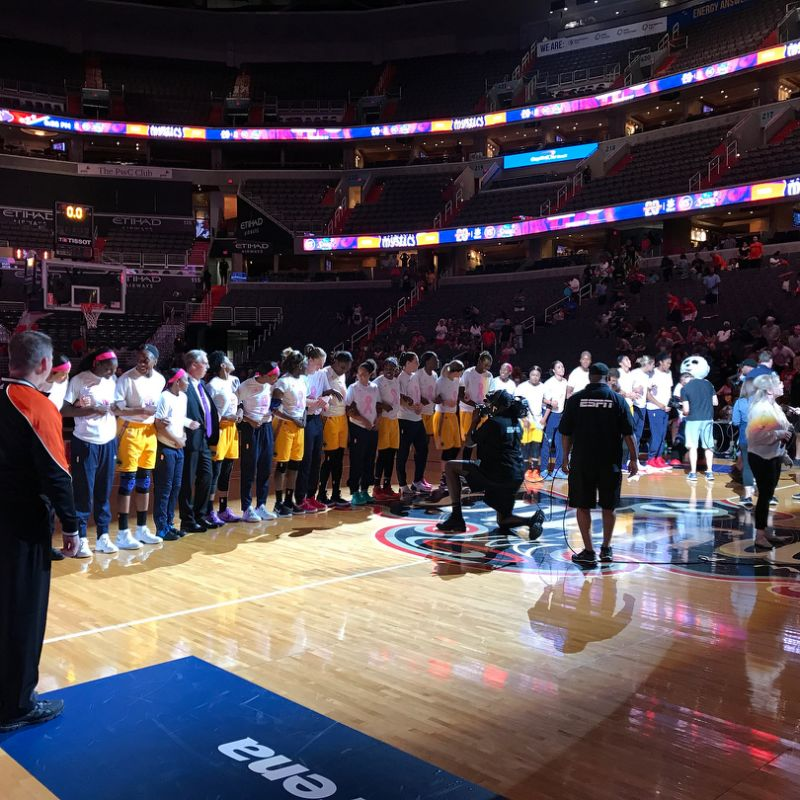 Washington Mystics and LA Sparks Display Unity for Charlottesville