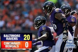 Baltimore Ravens Pitch a Shutout, Defeat Cincinnati Bengals 20-0