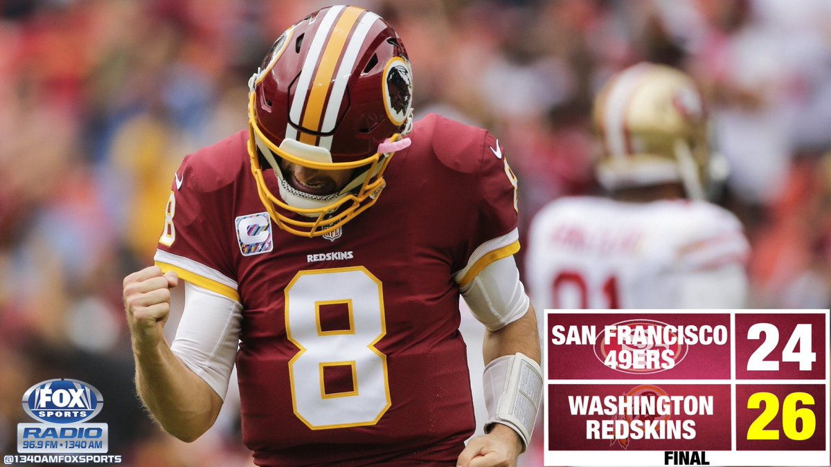 The second half play by the Redskins forces a 0-6 record on the 49ers