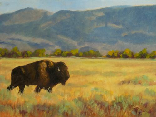 "Strollin' Along On Antelope Flat 8x10"" oil on canvas"
