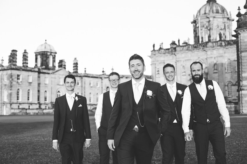 Castle Howard wedding photographer York | Yorkshire wedding photography | the grooms men