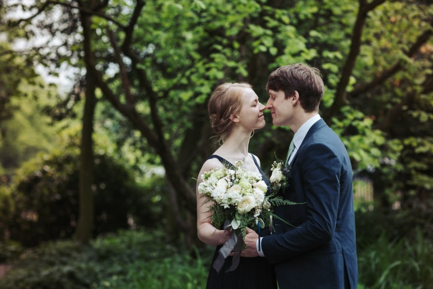 Natural York Wedding Photography in York Museum Park