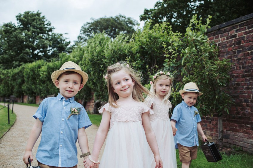 Yorkshire Sculpture Park wedding photographer | page boys and flower girls