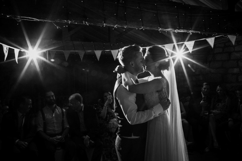 Yorkshire wedding first dance | creative flash photography