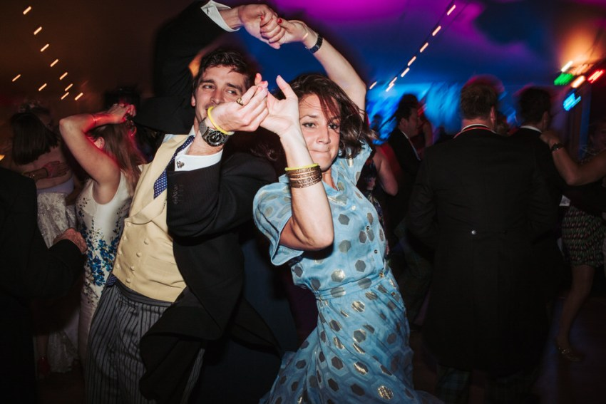 Guests on dance floor. Natural reportage York wedding photography, York UK.
