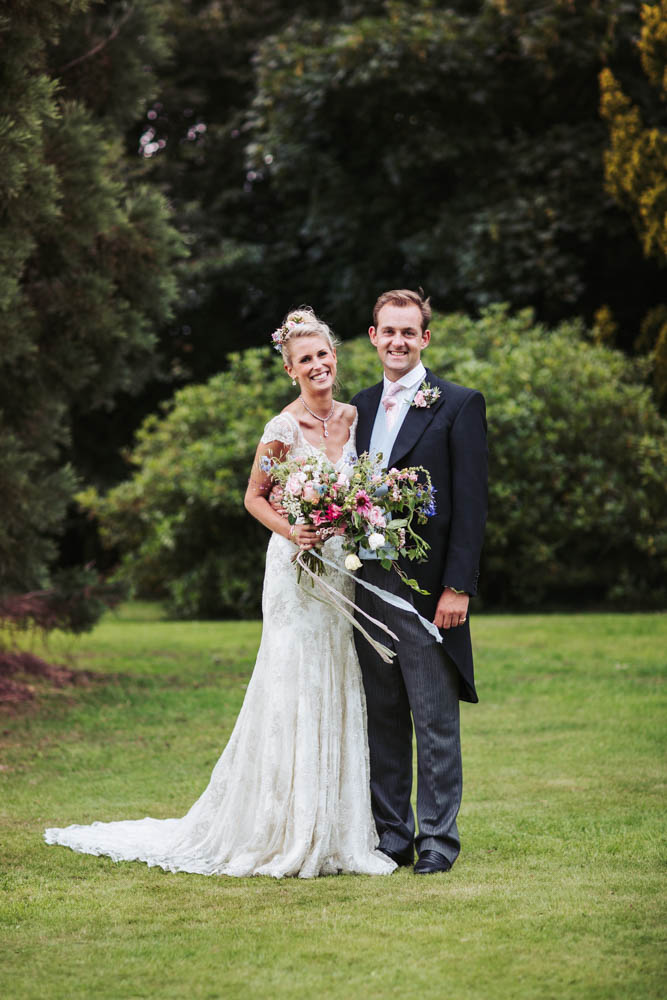 Natural York Harrogate wedding photographer, Yorkshire. Bride wears Liliana Dabic dress