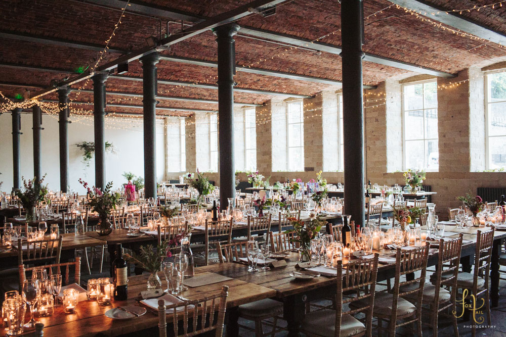 Arches Industrial Mill Wedding Venue Yorkshire Rustic Chic Cool Dean Clough