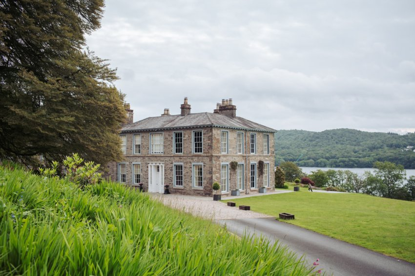 A view of Silverholme Manor house in the Lake District.