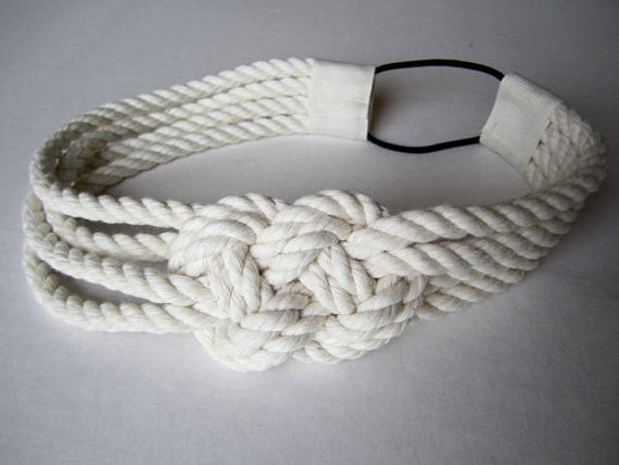Cotton Rope Sailor Knot Headband, 12.00 from TeaAccessories via Etsy