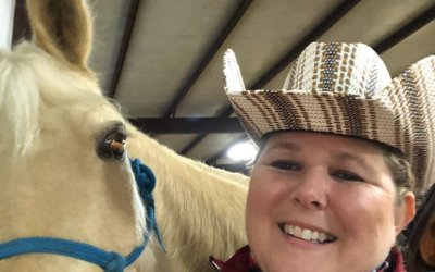 Gaited Fox Trotter Horse Louie Participates in Ranch Boxing Competition