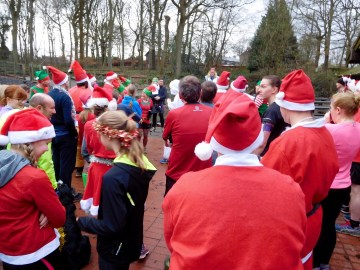Pre-run briefing Christmas Eve, Wyre Forest Parkrun