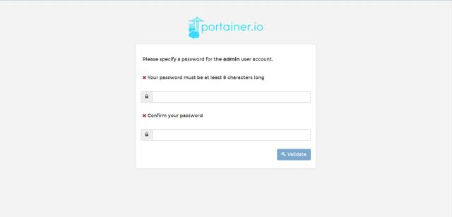 admin password set