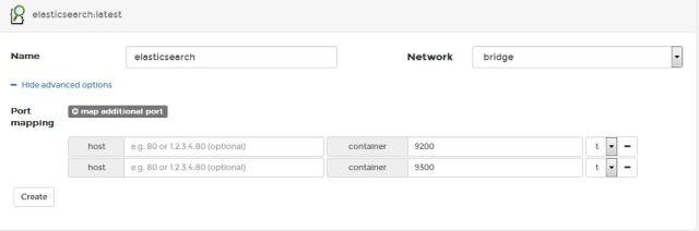 create elasticsearch container