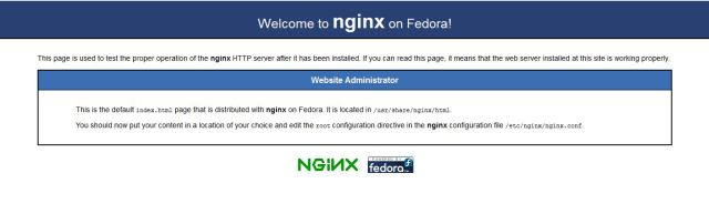nginx test page