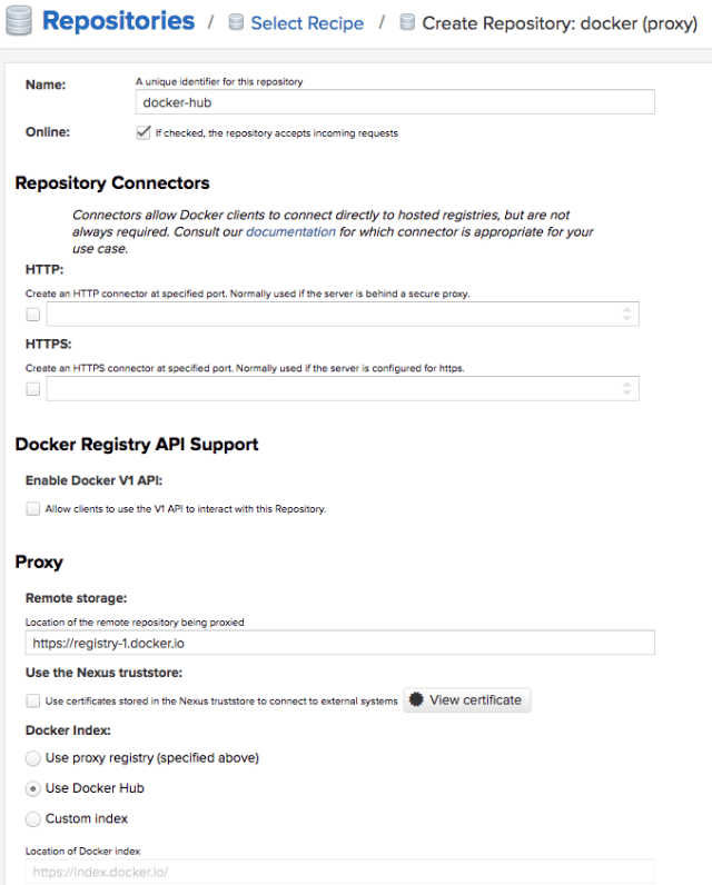 nexus docker proxy