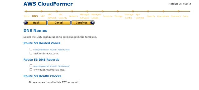 Cloudformer DNS