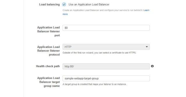 ECS load balance