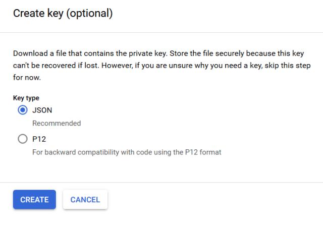 json key