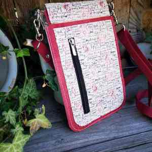 Kurk minimalistisch telefoon tasje rood kurk achterkant