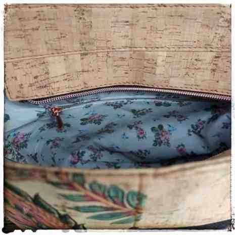 schoudertas naturel kurk binnenkant