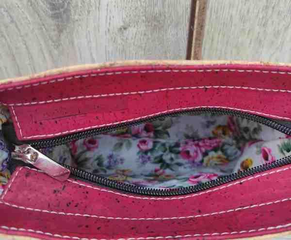 rood kurk tasje binnenkant