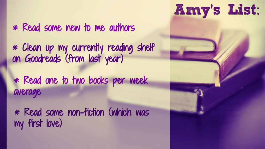 Amy's resolution list