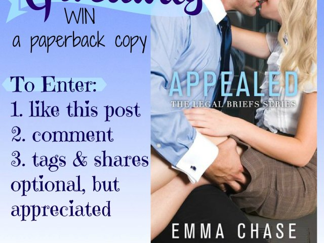 Review ~ Appealed by @EmmaChse ★ ★ ★ ★ ★ + #giveaway