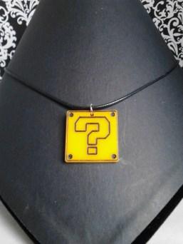Super Mario Question Block Necklace
