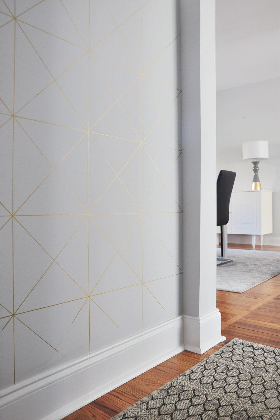 Fall 2017 One Room Challenge Week 3 DIY Gold Sharpie Wall