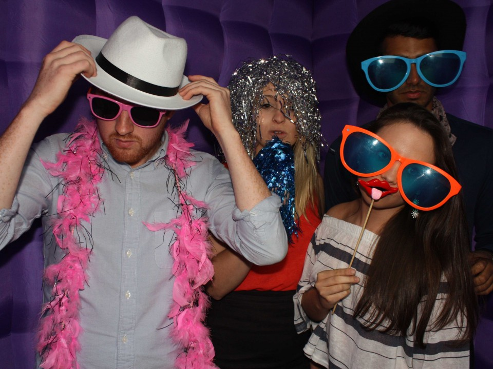 photo booth hire in Glasgow Caledonia university