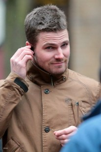 Stephen Amell Brown Jacket