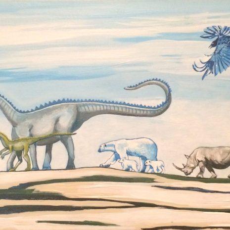 Luminita_Serbanescu_There be Dinosaurus_2020_Acrylic_30x15x2
