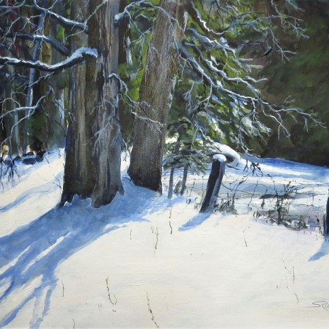 04_Scott_Rubie_ January Maples in Sunlight_acrylic on canvas_2020_16 x 20 x ¼