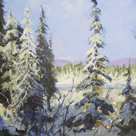 05_Scott_Rubie_ Sunlight after a Snowfall_acrylic on panel_2020_9 x 16 x ¼