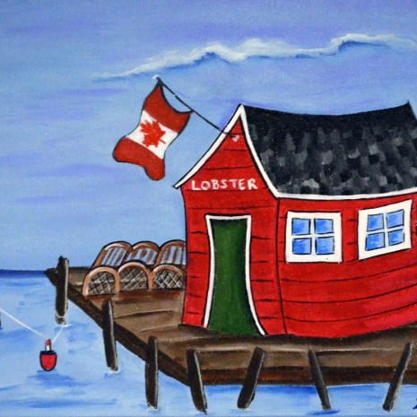 Heather_Lovat-Fraser_Lobster Shack_Acrylic_10X12X2_$95.00