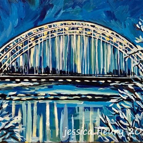 Jess_Fleury_Vimy_Memorial_Bridge_in_Winter_acrylic