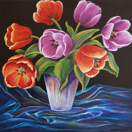 Beata_Jakubek_Spring_Bouquet_acrylic_12__x12__x1_5