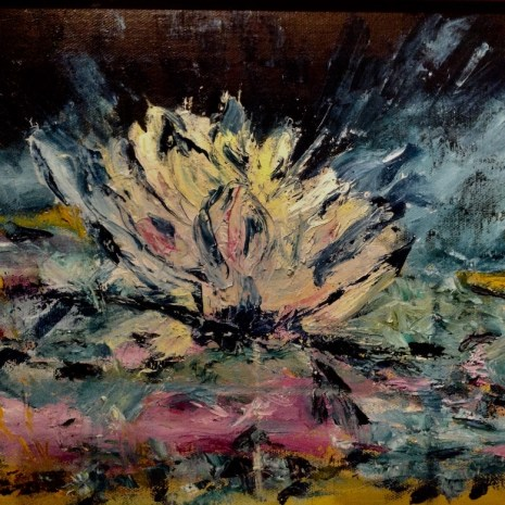 Rose_Marie_Roy_Abstracted_Waterlily_Acrylic_12x16_
