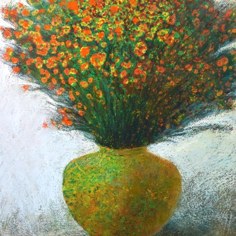 PAUL_VINCENT_BOUQUET_IN_RED___GREEN_PASTEL_17X13X0