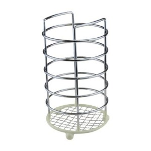 Chrome Wire Ware Dip Utensil Holder