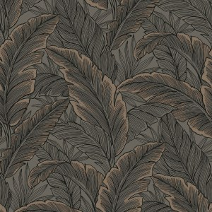 Tropical Leaves Chocolate / Rose Gold
