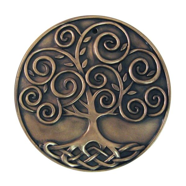 Royal Tara Bronze Plated Plaque - Tree Of Life