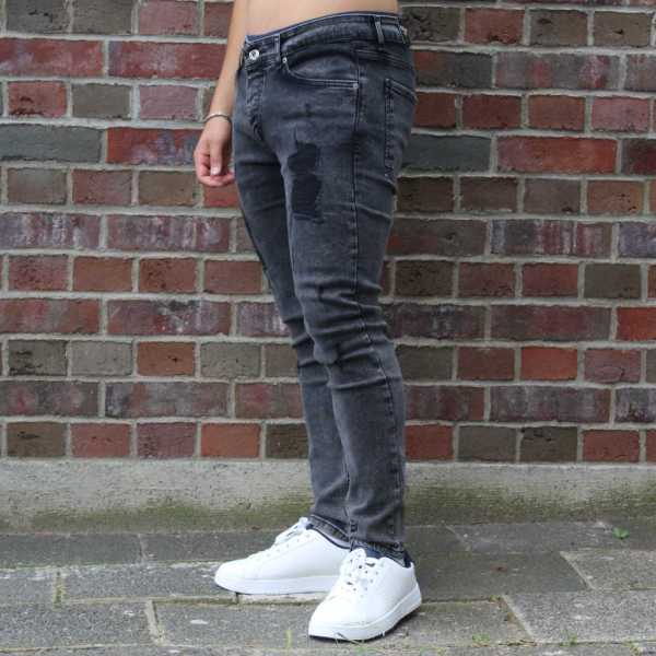 Destroyed Jeans Slim Fit Black 3