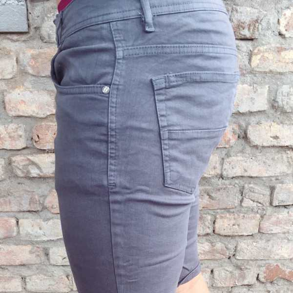Shorts Denim Basic Grey Slim Fit 2