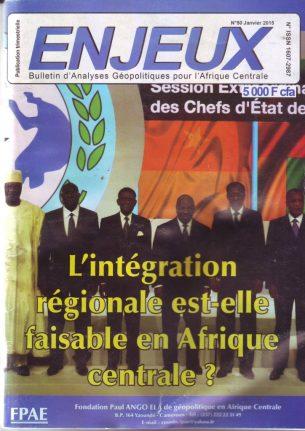 intégration régionale Afrique centrale