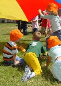 image of children  having fun outside