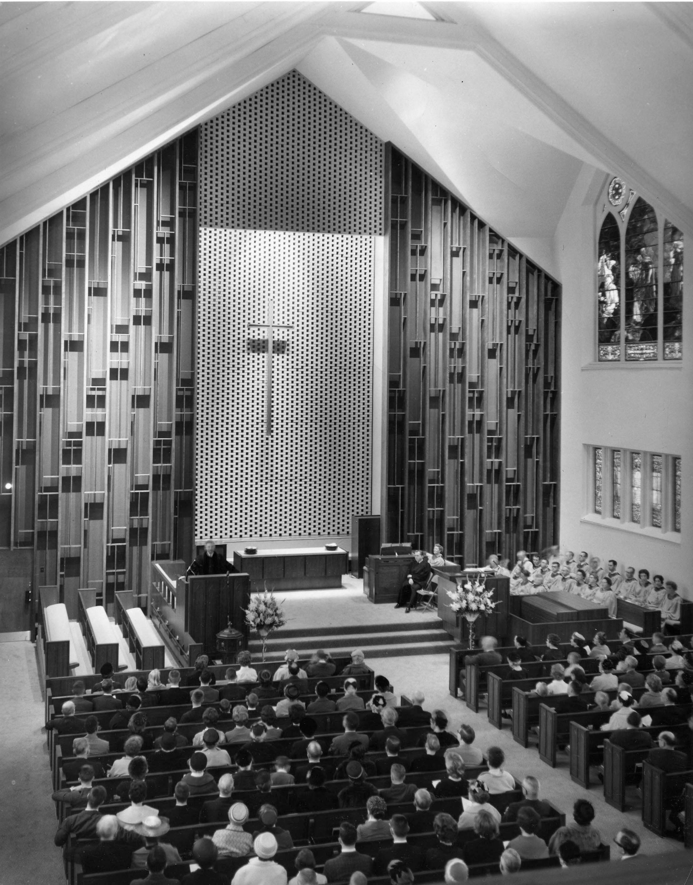 image of sanctuary in 1950